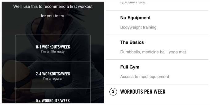 Nike workouts