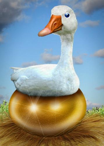 Golden Goose, care of DonkeyHotey.